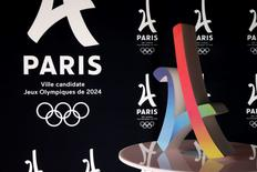 The logo of the Paris candidacy for the 2024 Olympic and Paralympic Games is pictured in Paris, France, February 17, 2016. REUTERS/Benoit Tessier