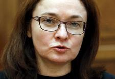 Russia's central bank Governor Elvira Nabiullina gives an interview to Reuters in Moscow, Russia, February 18, 2016. To match Interview RUSSIA-CENBANK/NABIULLINA-BANKS REUTERS/Sergei Karpukhin - RTX27SQW
