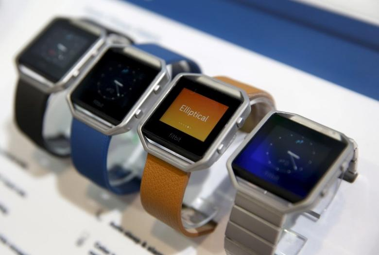 Fitbit Blaze watches are displayed during the 2016 CES trade show in Las Vegas, Nevada in this January 6, 2016, file photo. REUTERS/Steve Marcus/Files