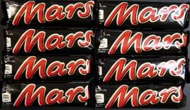 Mars bars are seen in this picture illustration taken February 23, 2016. REUTERS/Fabrizio Bensch/Illustration