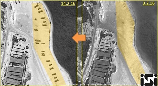 2月23日、米FOXニュースは、米政府高官2人の発言として、中国が南シナ海に戦闘機を派遣したと伝えた。イメージサット・インターナショナル社提供のウッディー島(永興島)の衛星写真。14日撮影(2016年 ロイター/ImageSat International N.V. 2016/Handout via Reuters)