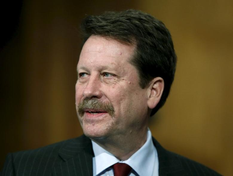 Doctor Robert Califf testifies at his nomination hearing at the Senate Health, Education, Labor and Pensions Committee on Capitol Hill in Washington, November 17, 2015. REUTERS/Gary Cameron