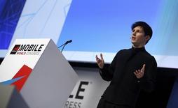 Le Russe Pavel Dourov, fondateur de l'application de messagerie sécurisée Telegram, soutient Apple dans son bras de fer contre le département américain de la Justice sur le cryptage des données. /Photo prise le 23 février 2016/REUTERS/Albert Gea