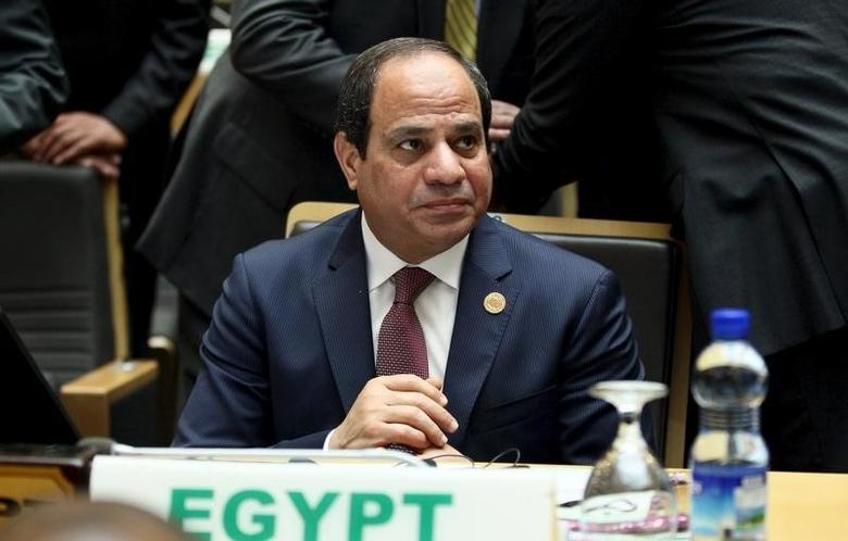 Egypt's President Abdel Fattah al-Sisi attends the opening ceremony of the 26th Ordinary Session of the Assembly of the African Union (AU) at the AU headquarters in Ethiopia's capital Addis Ababa, January 30, 2016. REUTERS/Tiksa Negeri