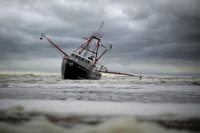 Rough waters strand fishing vessel capsize rescue boat for Fishing boats nyc