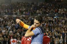 Canada's Milos Raonic leaves after losing his semi-final match against Britain's Andy Murray at the Australian Open tennis tournament at Melbourne Park, Australia, January 29, 2016. REUTERS/Tyrone Siu