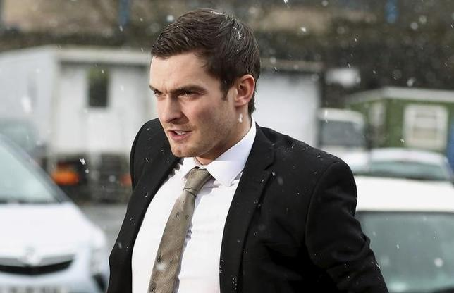 Former Sunderland soccer player Adam Johnson arrives at Bradford Crown Court in Bradford, Britain March 2, 2016. REUTERS/Phil Noble