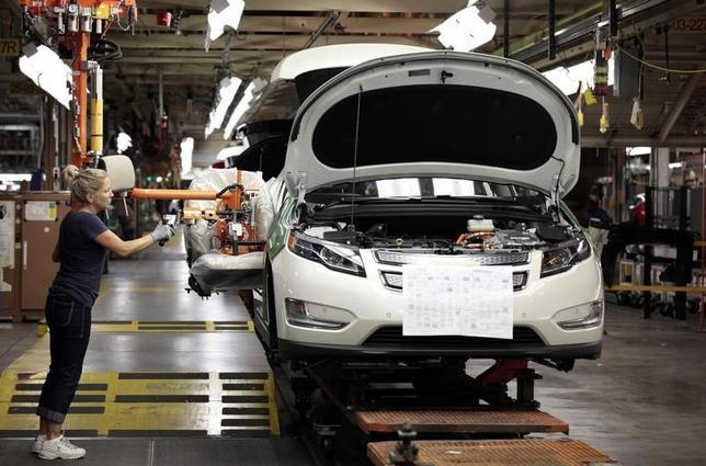 3月3日、米商務省が発表した1月の製造業受注は前月比1.6%増と、3カ月ぶりにプラスへ転じ、昨年6月以来7カ月ぶりの大きな伸びとなった。予想は2.0%増だった。写真は2011年7月、米ミシガン州で(2016年 ロイター/Rebecca Cook)