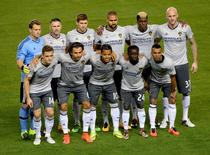 Feb 9, 2016; Carson, CA, USA; The starting eleven Los Angeles Galaxy players pose for a photo prior to their game against Club Tijuana at StubHub Center. Mandatory Credit: Jayne Kamin-Oncea-USA TODAY Sports