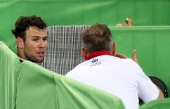 UCI World Track Cycling Championships - London, Britain - 5/3/2016 - Mark Cavendish of Britain dejected after he finished sixth in the men's omnium. REUTERS/Matthew Childs