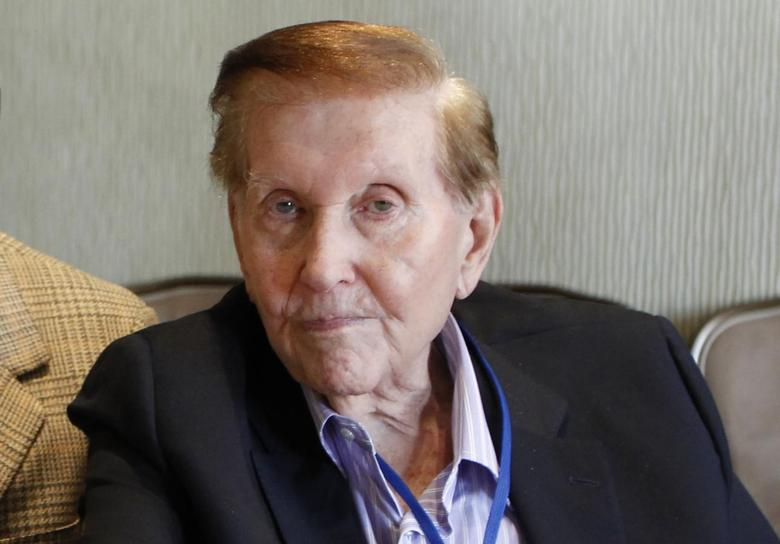 Sumner Redstone is seen during an event at the Milken Institute Global Conference in Beverly Hills, California in this file photo taken May 2, 2012.   REUTERS/Danny Moloshok/Files