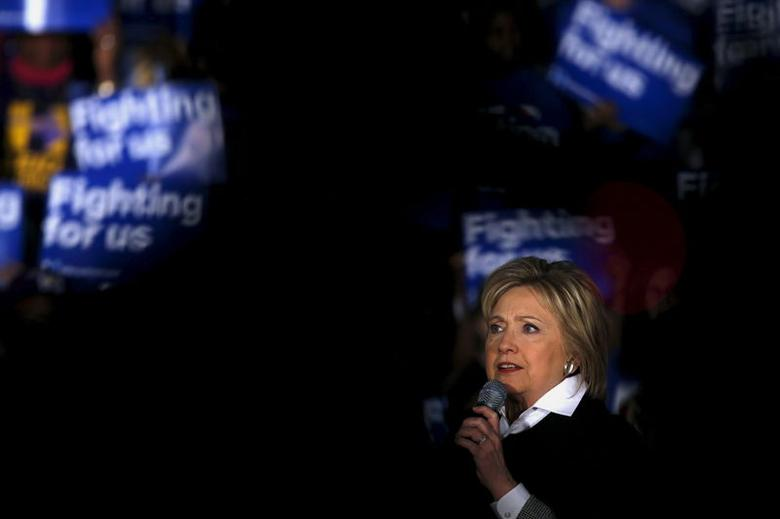 U.S. Democratic presidential candidate Hillary Clinton speaks at a campaign rally in Detroit, Michigan, March 7, 2016. REUTERS/Carlos Barria