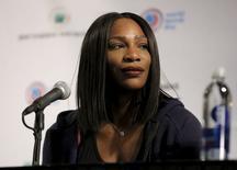 Serena Williams concede entrevista coletiva em Nova York.  8/3/2016.  REUTERS/Brendan McDermid