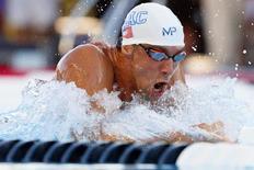 Phelps participa de competição em San Antonio. 10/8/2015. Reuters/Soobum Im-USA TODAY Sports