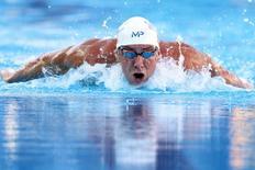 Michael Phelps durante competição em San Antonio, nos Estados Unidos. 09/08/2015 REUTERS/Soobum Im-USA TODAY Sports