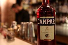 A Campari bottle is seen in a bar downtown Milan, February 29, 2016. REUTERS/Stefano Rellandini