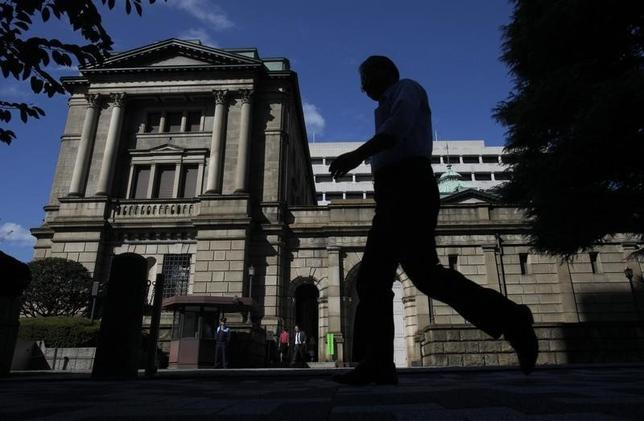 3月15日、日銀は金融政策決定会合で、1月に導入したマイナス金利付き量的・質的緩和政策の現状維持を賛成多数で決めた。写真は日銀本店。2011年10月撮影(2016年 ロイター/Yuriko Nakao)