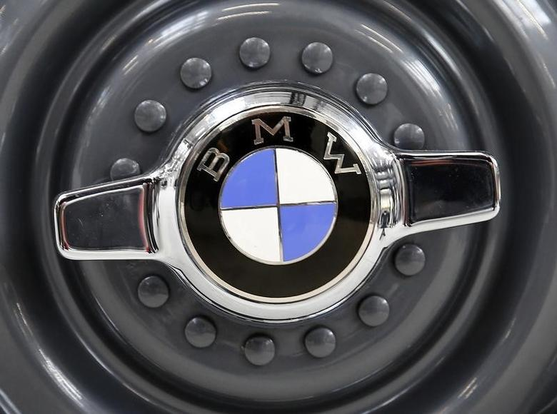 A vintage wheelcap of a BMW is picturesd before a news conference marking the company's 100th birthday festivities in Munich, southern Germany March 7, 2016.     REUTERS/Michael Dalder