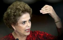 Presidente Dilma Rousseff dá entrevista no Palácio do Planalto para anunciar Lula na Casa Civil 16/03/2016. REUTERS/Adriano Machado
