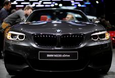 A BMW M235i XDrive is displayed at the North American International Auto Show in Detroit, January 12, 2016.   REUTERS/Gary Cameron