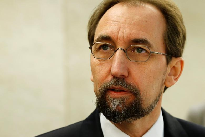 United Nations (U.N.) High Commissioner for Human Rights Zeid Ra'ad Al Hussein arrives for the 31st session of the Human Rights Council at the U.N. European headquarters in Geneva, Switzerland, February 29, 2016. REUTERS/Denis Balibouse