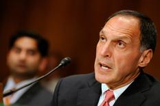 Former Lehman Brothers Chairman and CEO Richard Fuld testifies before the Financial Crisis Inquiry Commission for a hearing about extraordinary government intervention and the recent financial crisis, on Capitol Hill in Washington, September 1, 2010.   REUTERS/Jonathan Ernst