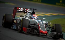 Formula One - Australia Grand Prix - 20/03/16 - Haas F1 driver Romain Grosjean drives during the Australian Formula One Grand Prix in Melbourne.   REUTERS/Jason Reed
