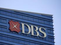 A Development Bank of Singapore (DBS) logo on their office building in Singapore, February 22, 2016. REUTERS/Edgar Su