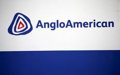 The Anglo American logo is seen in Rusternburg October 5, 2015. REUTERS/Siphiwe Sibeko