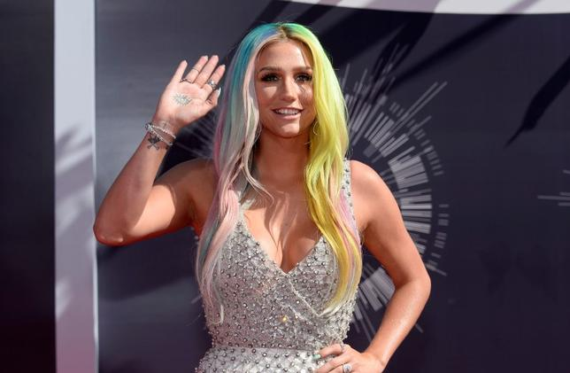 Kesha arrives at the 2014 MTV Music Video Awards in Inglewood, California, in this file photo taken August 24, 2014. REUTERS/Kevork Djansezian/Files