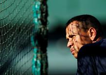 Alex Rodriguez awaits his turn in the batting cage in July 2010.  REUTERS/Robert Galbraith
