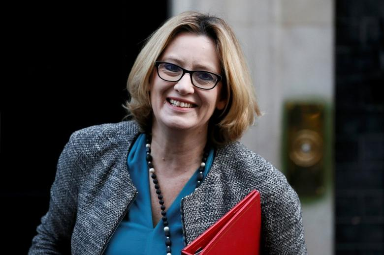 Britain's Energy Secretary, Amber Rudd, arrives to attend a cabinet meeting at Number 10 Downing Street in London, Britain February 23, 2016. REUTERS/Stefan Wermuth