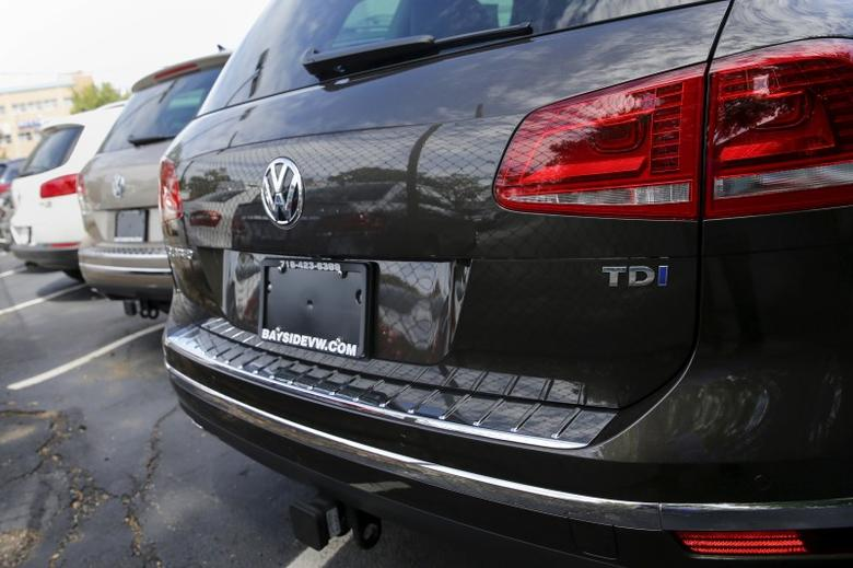 A Volkswagen 2016 Touareg TDI is seen at a VW dealership in the Queens borough of New York, September 21, 2015.  REUTERS/Shannon Stapleton