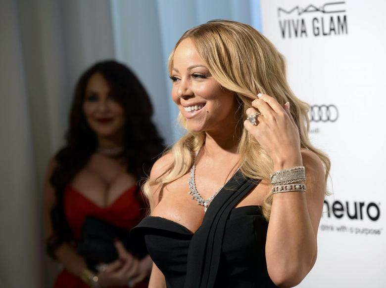 Singer Mariah Carey arrives at the Elton John AIDS Foundation Academy Awards Viewing Party in West Hollywood, California February 28, 2016. REUTERS/Gus Ruelas