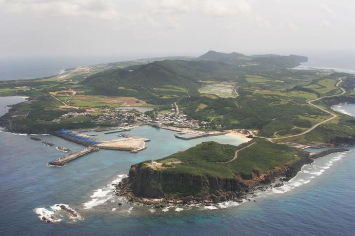 An aerial view shows Yonaguni island, Okinawa prefecture in this picture taken by Kyodo on March 28, 2007. REUTERS/Kyodo/Files
