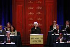 U.S. Federal Reserve chair Janet Yellen speaks to the Economic Club of New York in New York March 29, 2016. REUTERS/Lucas Jackson