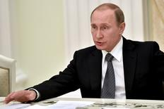 Presidente russo, Vladimir Putin, durante encontro em Moscou.    23/03/2016      REUTERS/Kirill Kudryavtsev/Pool
