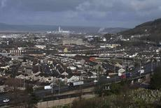 A general view shows the town of Port Talbot in Wales, Britain March 30, 2016. REUTERS/Rebecca Naden