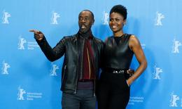 Director Don Cheadle and actress Emayatzy Corinealdi pose during a photocall to promote the movie 'Miles Ahead' at the 66th Berlinale International Film Festival in Berlin, Germany, February 18, 2016.     REUTERS/Fabrizio Bensch