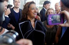 File photo of renowned international architect Zaha Hadid arriving at a ground-breaking ceremony for her residential tower in Miami December 5, 2014.   REUTERS/Andrew Innerarity