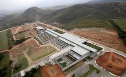 Foto aérea da instalação olímpica de tiro, no completo de Deodoro, no Rio.  29/7/2015.   REUTERS/Ricardo Moraes