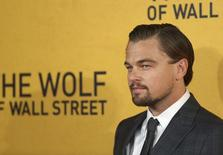 """Cast member Leonardo DiCaprio arrives for the U.K. premiere of """"The Wolf of Wall Street"""" at Leicester Square, London January 9, 2014.    REUTERS/Paul Hackett"""