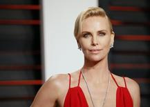 Actress Charlize Theron arrives at the Vanity Fair Oscar Party in Beverly Hills, California February 28, 2016.  REUTERS/Danny Moloshok