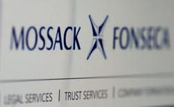 The website of the Mossack Fonseca law firm is pictured in this file illustration picture taken April 4, 2016.  REUTERS/Reinhard Krause/Illustration/File