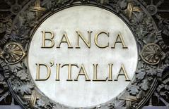 The Banca D'Italia (Bank of Italy) logo is seen at the headquater in the downtown of Milan, Italy, January 19, 2016. REUTERS/Stefano Rellandini