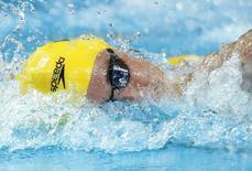 Australia's Cameron Mcevoy swims in a men's 200m freestyle heat during the Aquatics World Championships in Kazan, Russia  August 3, 2015.      REUTERS/Hannibal Hanschke
