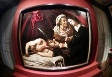 Pintura achada na França apontada como sendo de Caravaggio.  12/4/2016.    REUTERS/Charles Platiau