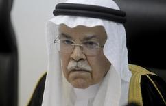 El ministro de Petróleo saudí, Ali al-Naimi, durante una conferencia de prensa en Rabat. 7 de abril de 2016. El ministro de Petróleo de Arabia Saudita, Ali al-Naimi, descartó un recorte a la producción de crudo del reino en comentarios publicados el miércoles por el diario saudí Al-Hayat. REUTERS/Stringer   SOLO PARA USO EDITORIAL