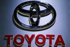 The logo of Toyota is pictured at at the 37th Bangkok International Motor Show in Bangkok, Thailand, March 22, 2016. REUTERS/Chaiwat Subprasom