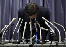 Presidente da Mitsubishi Motors Corp, Tetsuro Aikawa, em entrevista coletiva em Tóquio. 20/04/2016 REUTERS/Toru Hanai